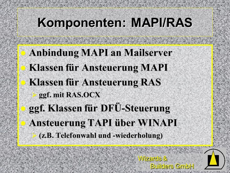 Komponenten: MAPI/RAS