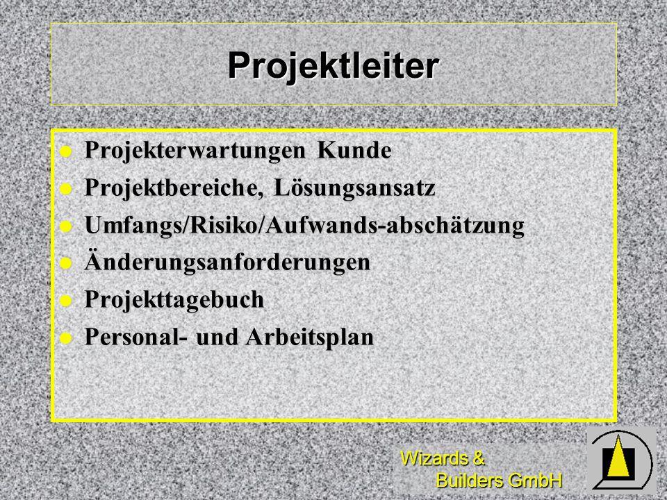 Projektleiter Projekterwartungen Kunde Projektbereiche, Lösungsansatz