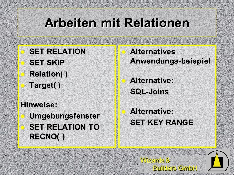 Arbeiten mit Relationen