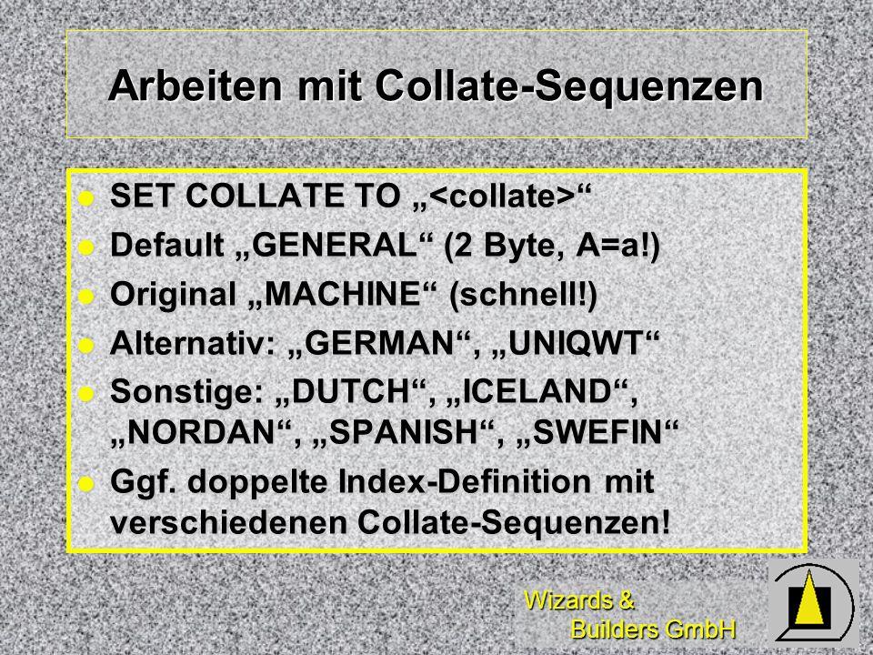 Arbeiten mit Collate-Sequenzen