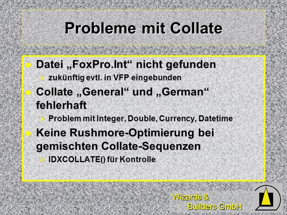 """Probleme mit Collate Datei """"FoxPro.Int nicht gefunden"""
