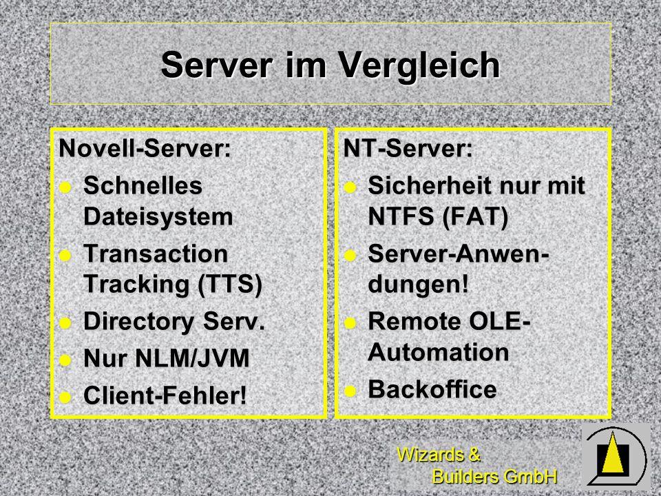 Server im Vergleich Novell-Server: Schnelles Dateisystem