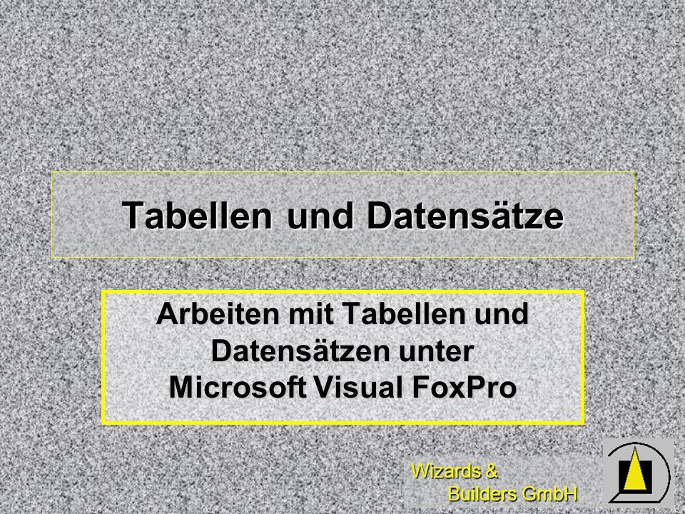 Tabellen und Datensätze