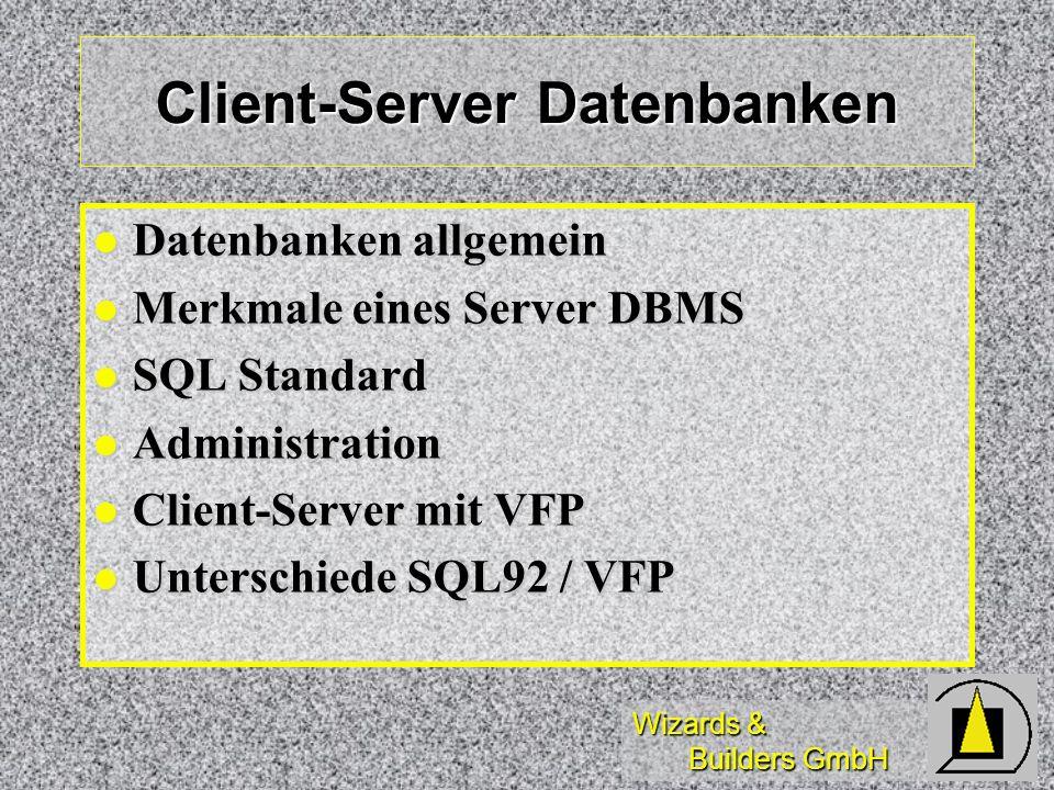 Client-Server Datenbanken