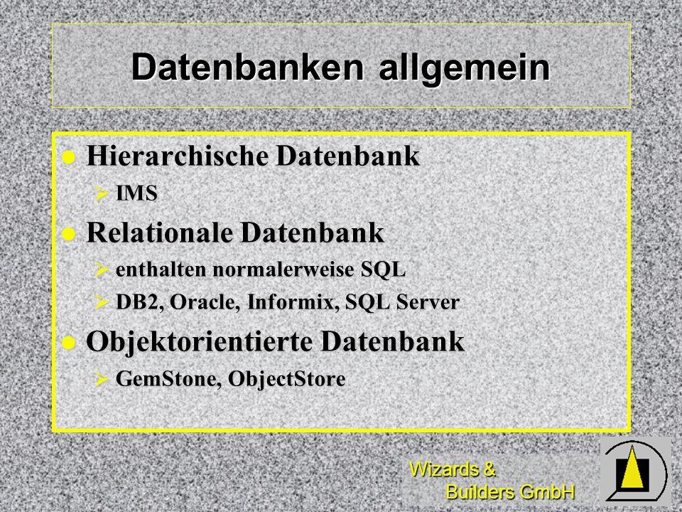Datenbanken allgemein
