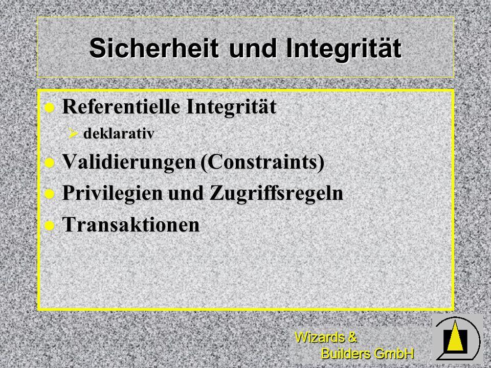 Sicherheit und Integrität