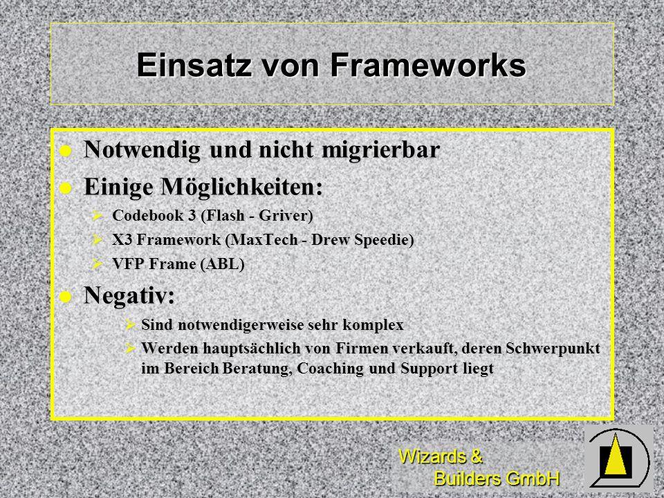 Einsatz von Frameworks