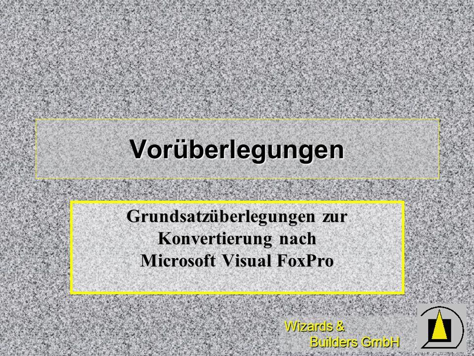 Grundsatzüberlegungen zur Konvertierung nach Microsoft Visual FoxPro