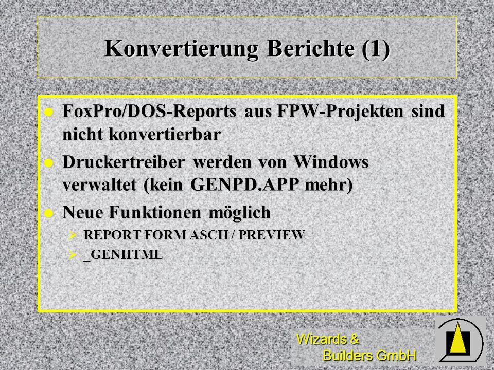 Konvertierung Berichte (1)