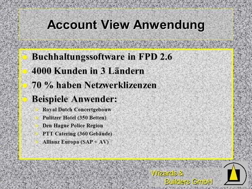 Account View Anwendung