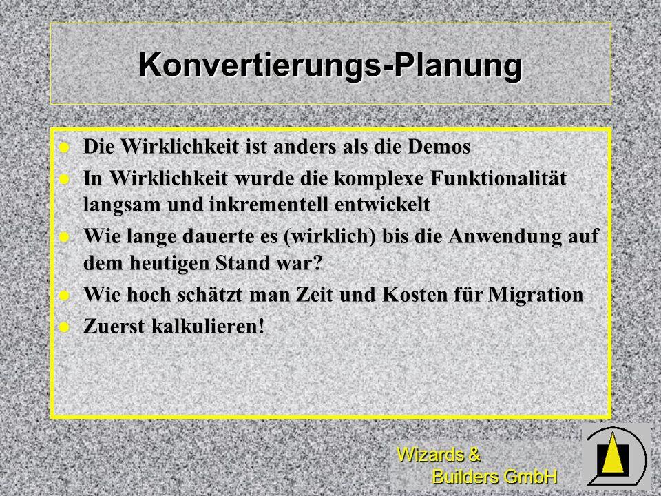 Konvertierungs-Planung