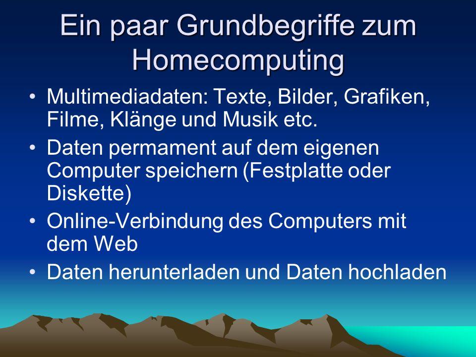 Ein paar Grundbegriffe zum Homecomputing