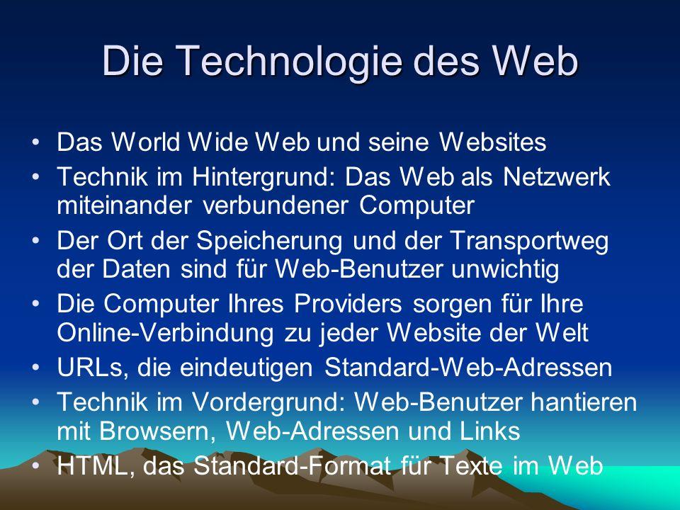 Die Technologie des Web