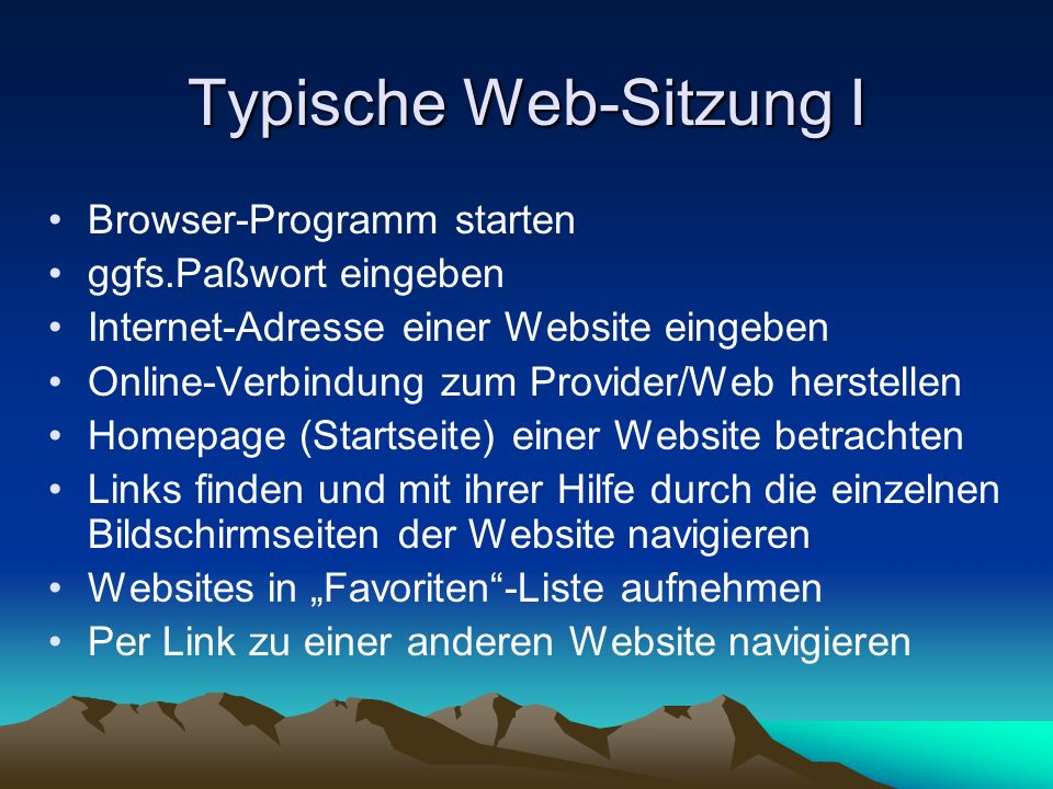 Typische Web-Sitzung I