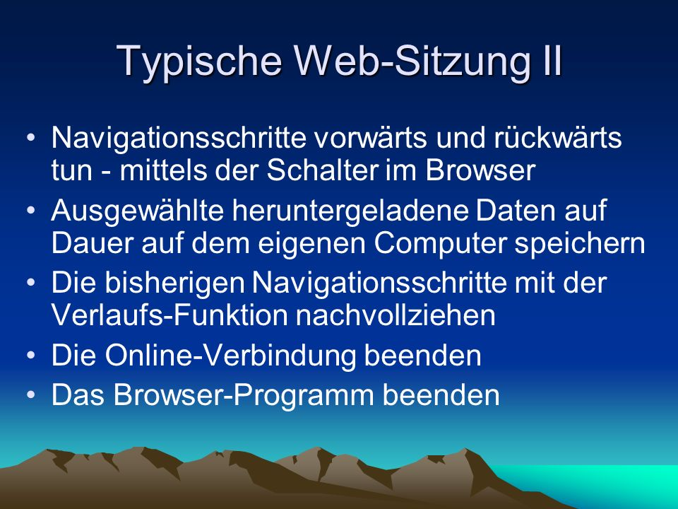 Typische Web-Sitzung II
