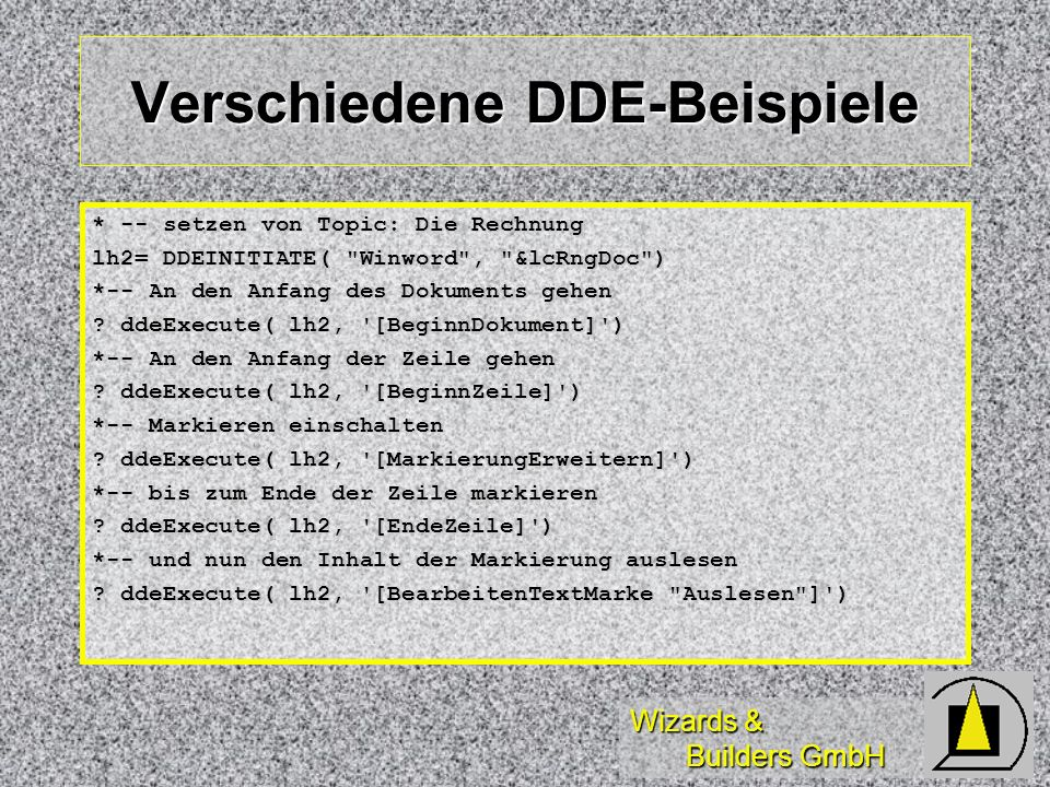 Verschiedene DDE-Beispiele