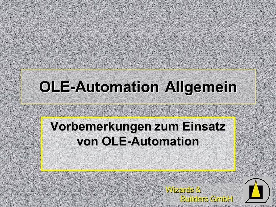 OLE-Automation Allgemein