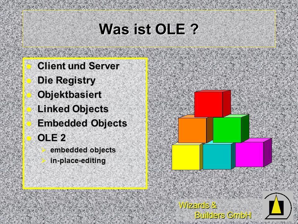 Was ist OLE Client und Server Die Registry Objektbasiert