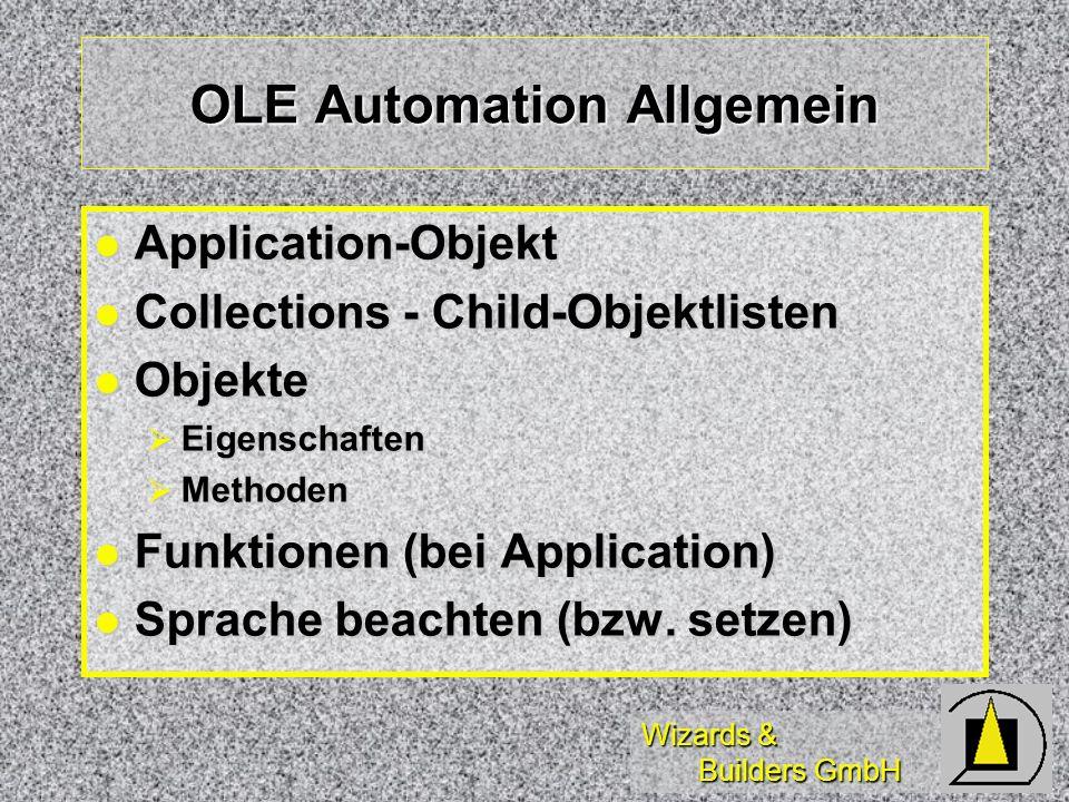 OLE Automation Allgemein