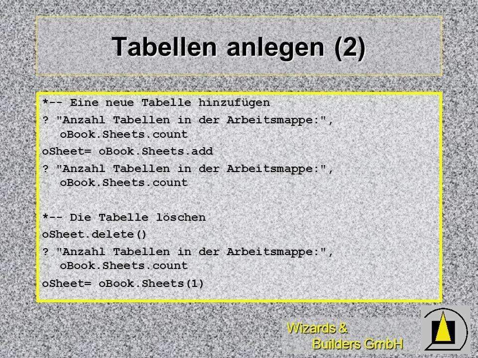Tabellen anlegen (2) *-- Eine neue Tabelle hinzufügen