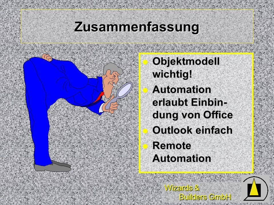Zusammenfassung Objektmodell wichtig!