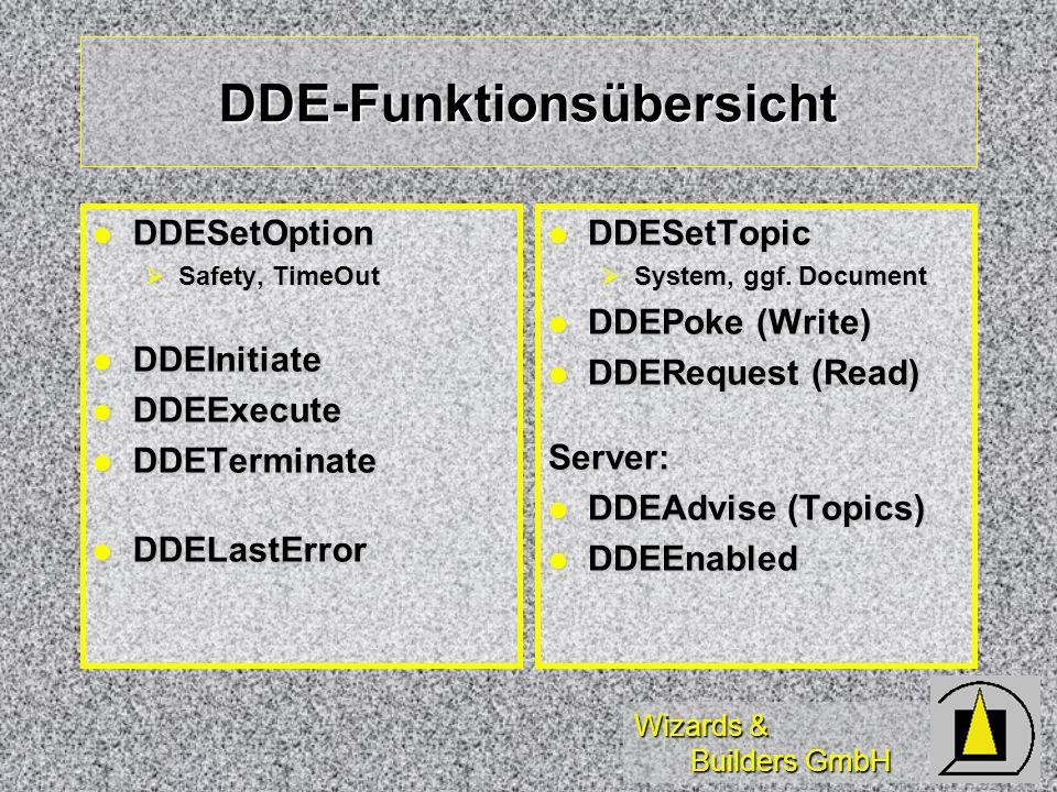 DDE-Funktionsübersicht