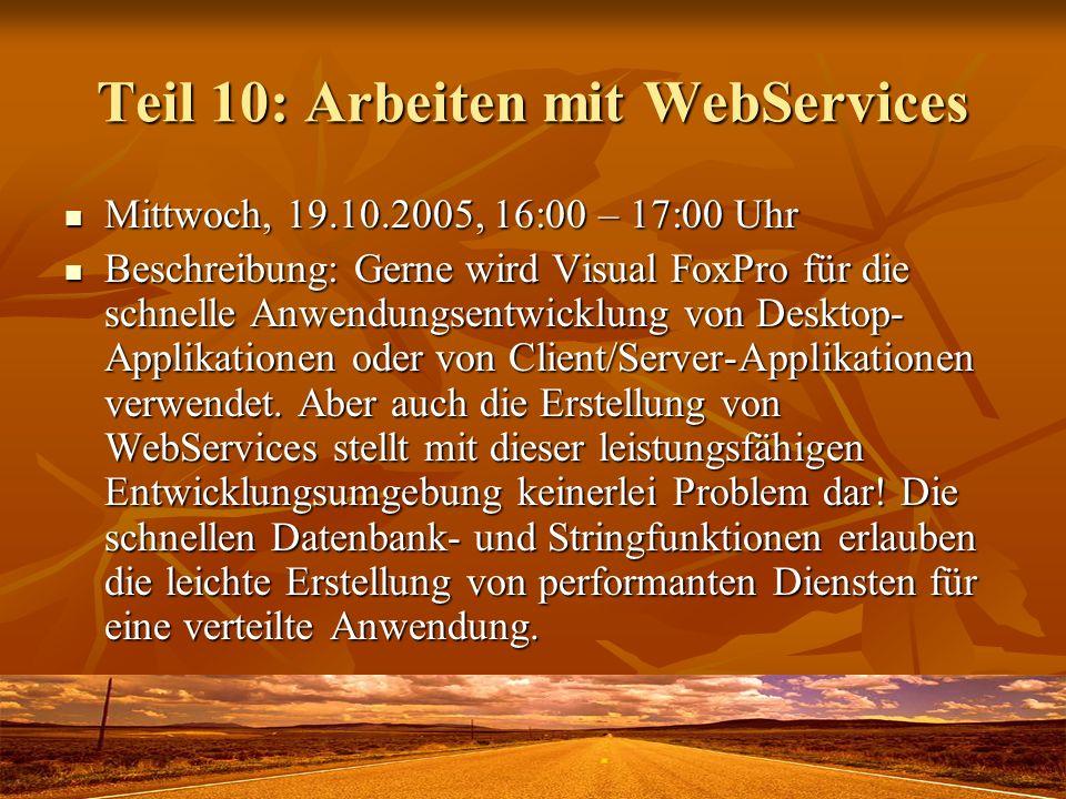 Teil 10: Arbeiten mit WebServices