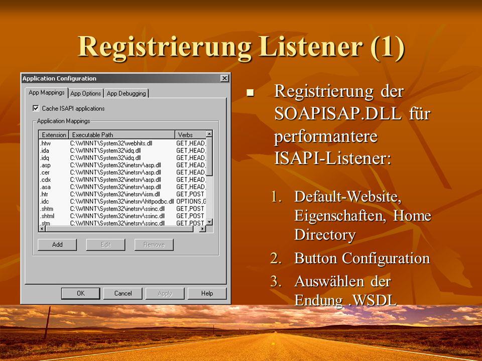 Registrierung Listener (1)