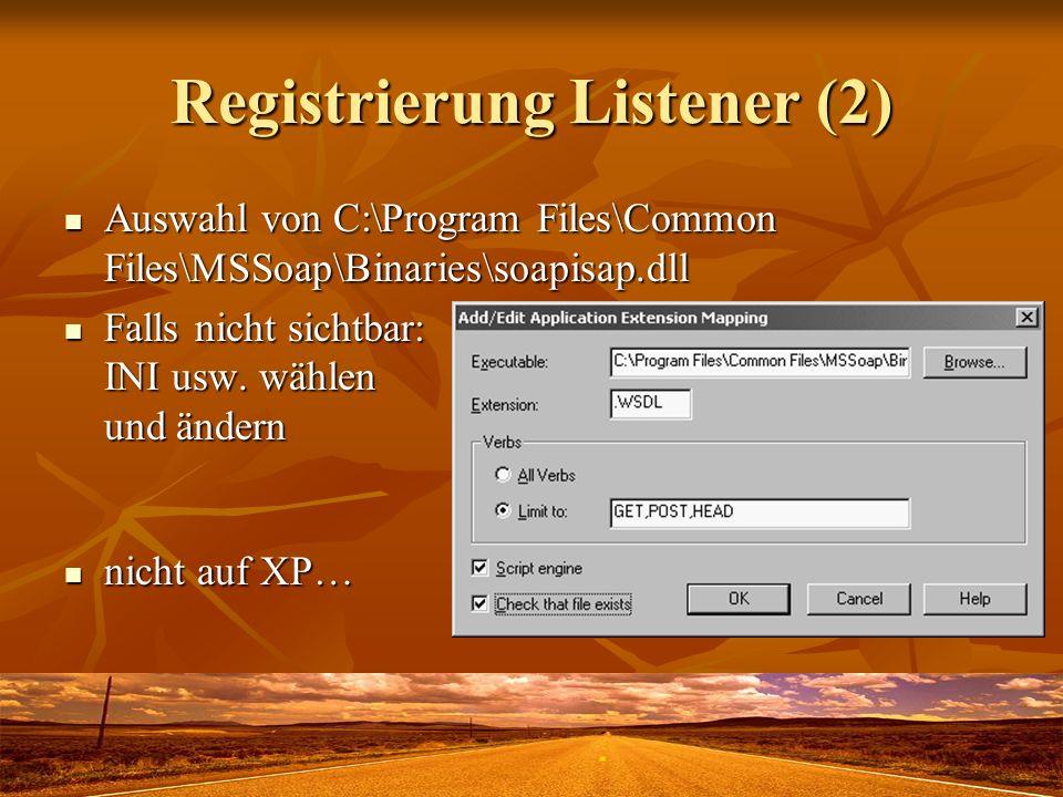 Registrierung Listener (2)
