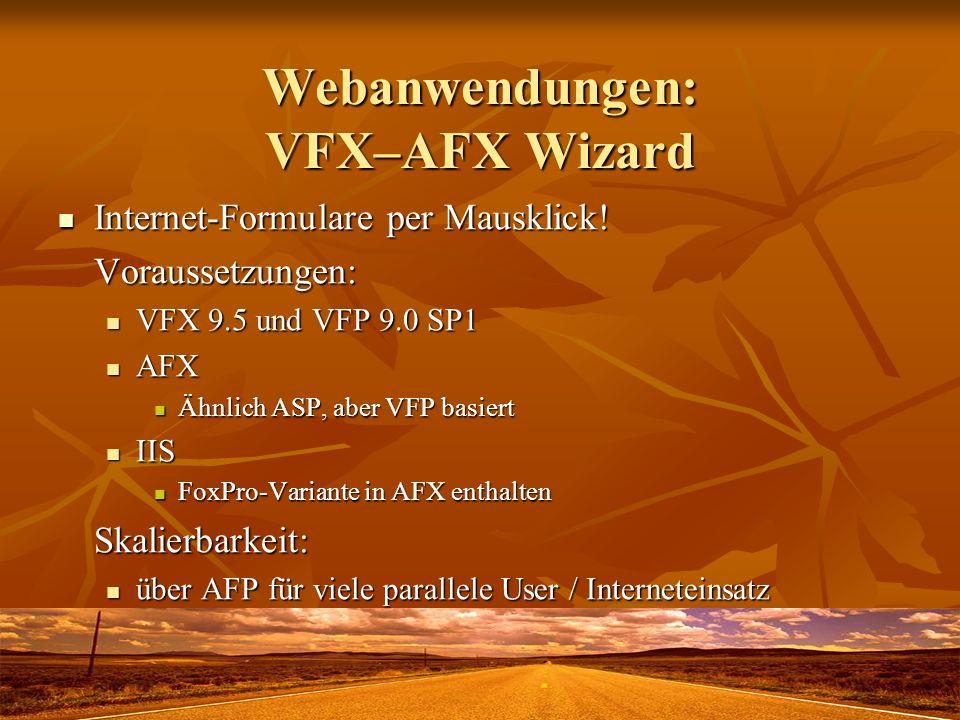 Webanwendungen: VFX–AFX Wizard