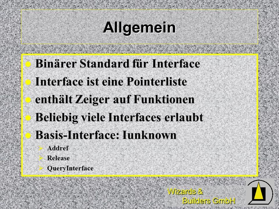 Allgemein Binärer Standard für Interface