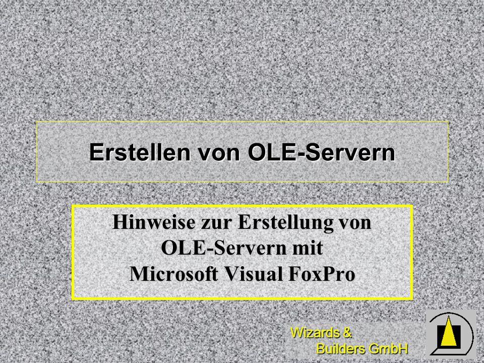 Erstellen von OLE-Servern