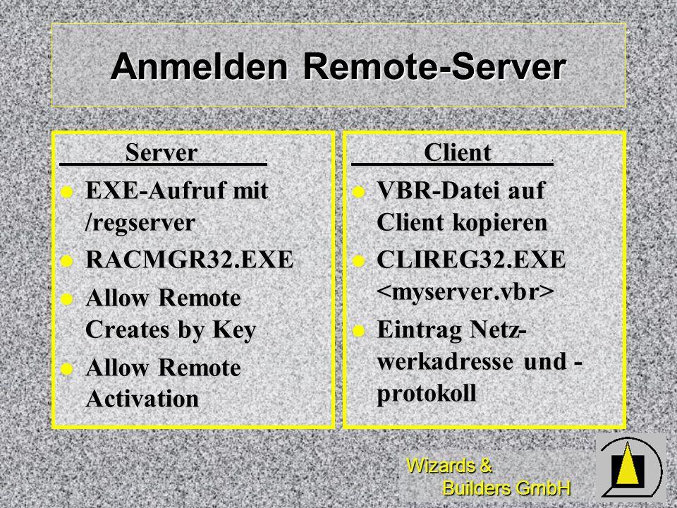 Anmelden Remote-Server