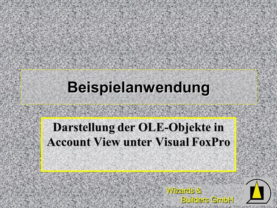 Darstellung der OLE-Objekte in Account View unter Visual FoxPro