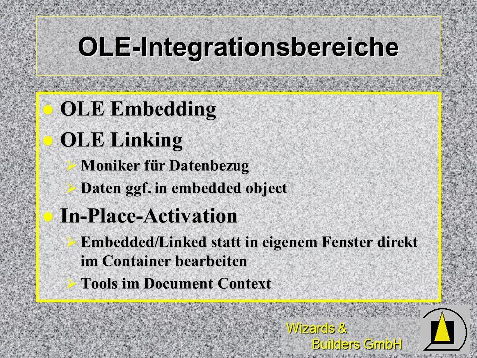 OLE-Integrationsbereiche