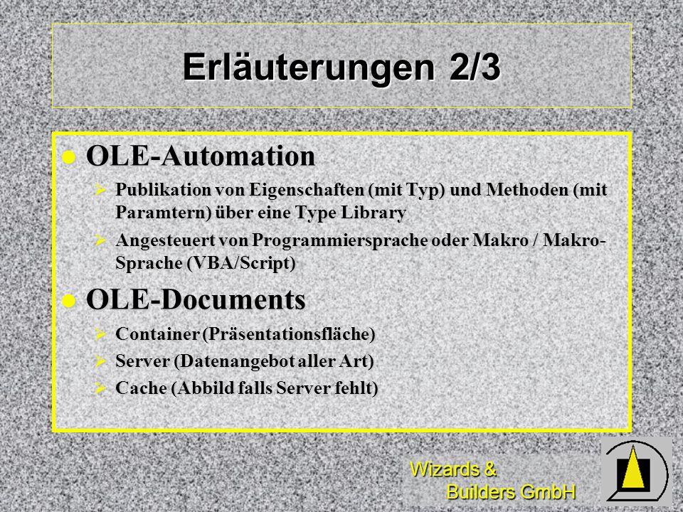Erläuterungen 2/3 OLE-Automation OLE-Documents