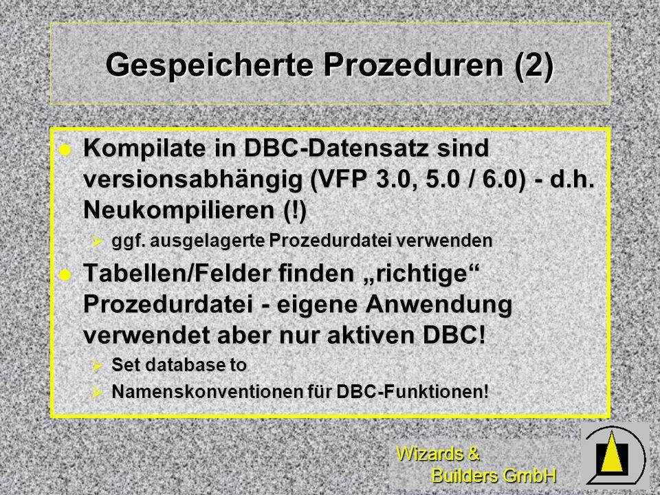 Gespeicherte Prozeduren (2)