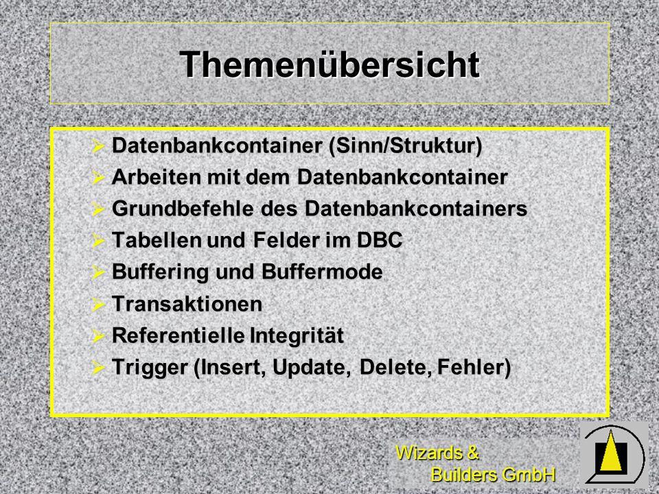 Themenübersicht Datenbankcontainer (Sinn/Struktur)