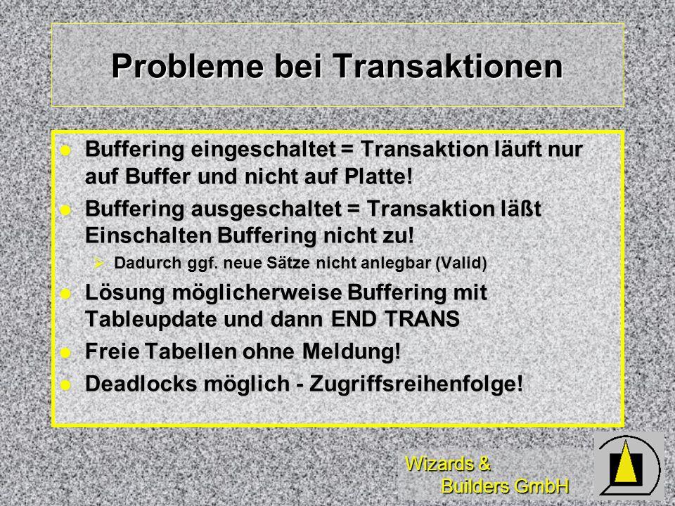 Probleme bei Transaktionen