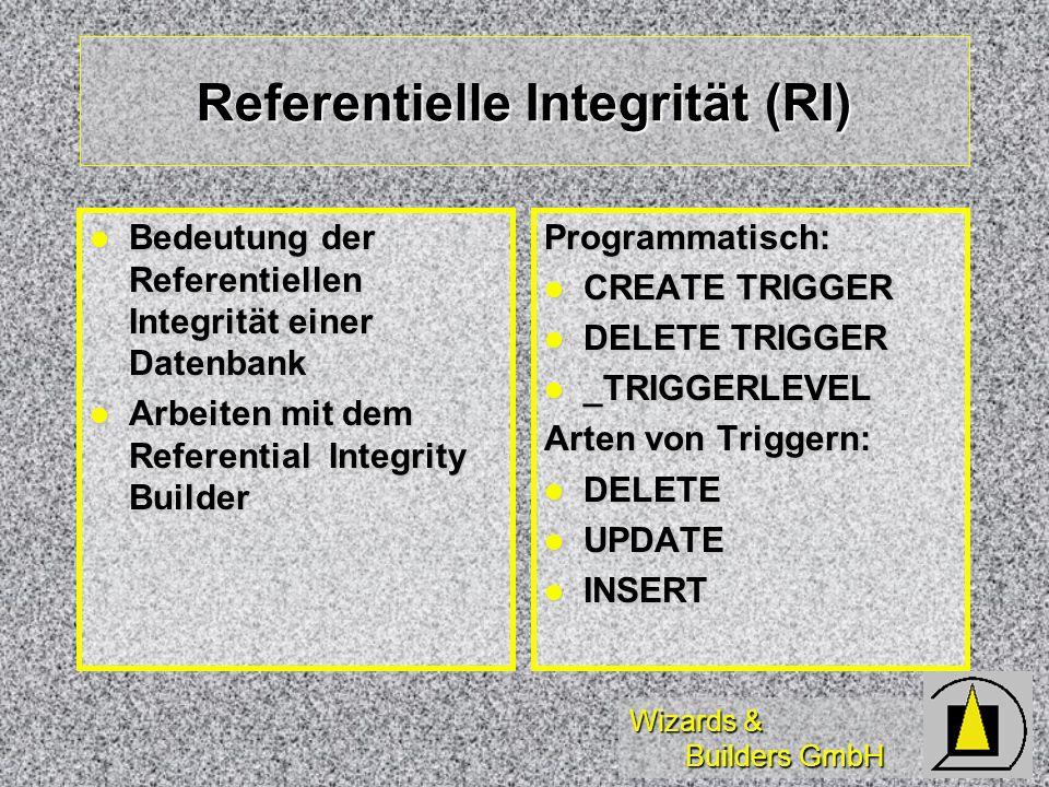 Referentielle Integrität (RI)