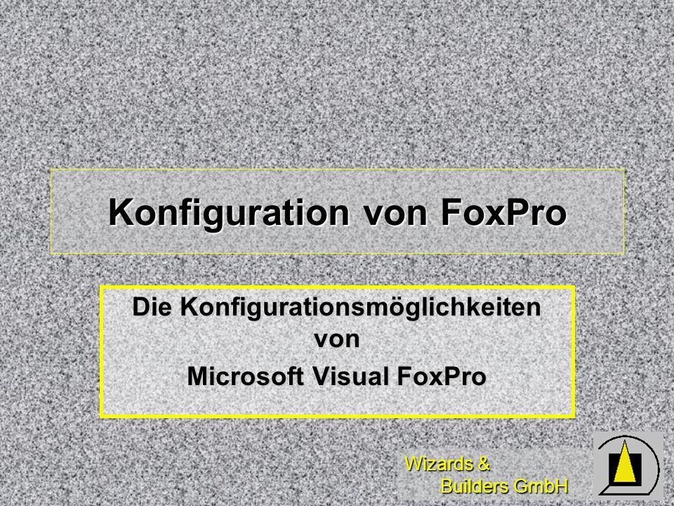 Konfiguration von FoxPro