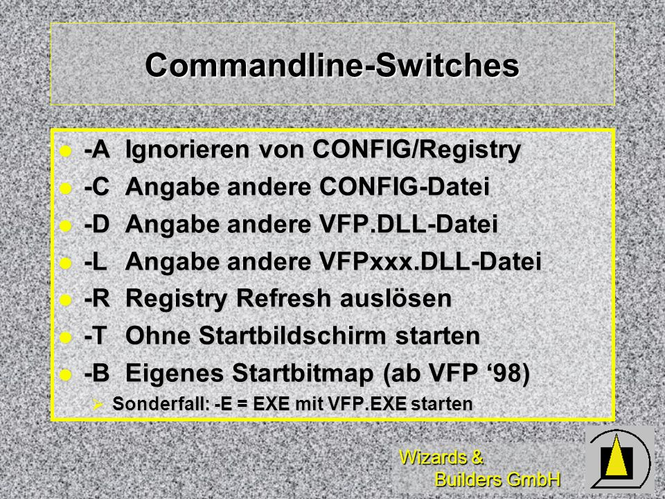 Commandline-Switches