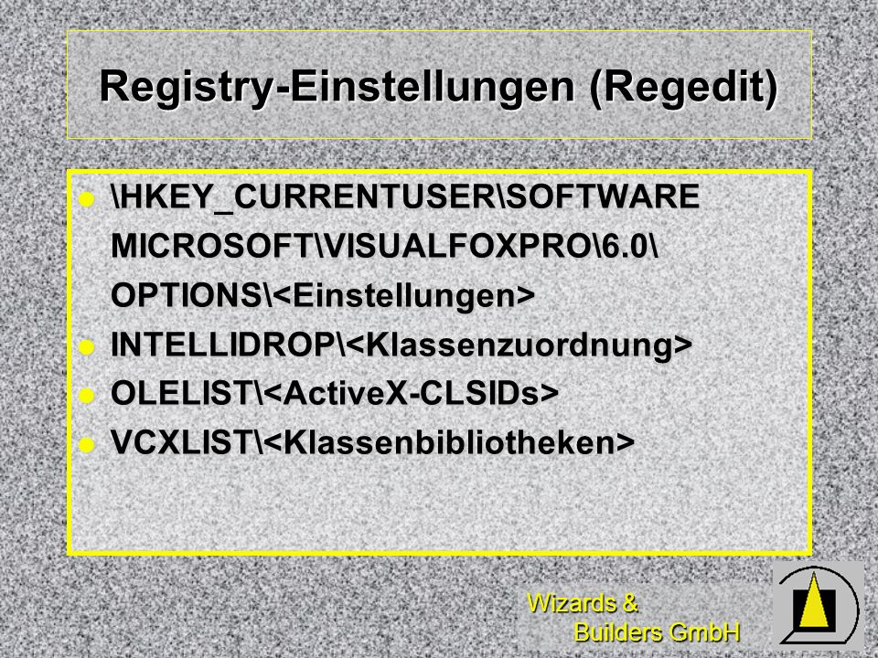 Registry-Einstellungen (Regedit)