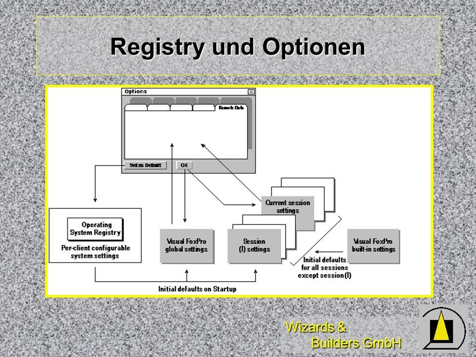 Registry und Optionen