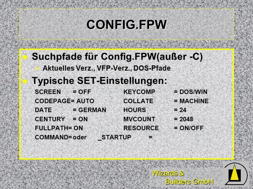 CONFIG.FPW Suchpfade für Config.FPW(außer -C)