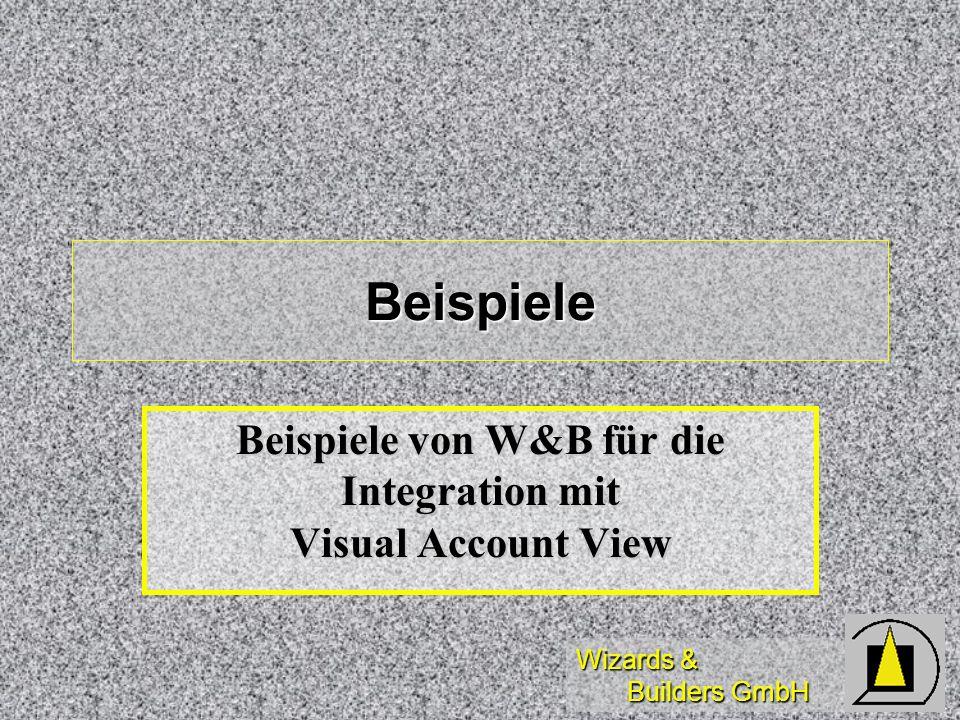 Beispiele von W&B für die Integration mit Visual Account View