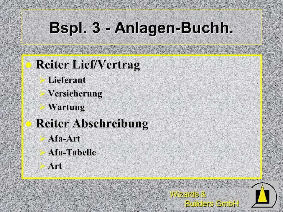 Bspl. 3 - Anlagen-Buchh. Reiter Lief/Vertrag Reiter Abschreibung