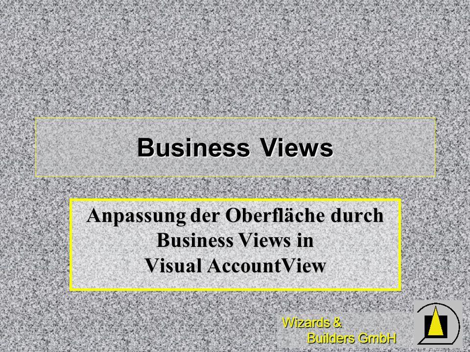 Anpassung der Oberfläche durch Business Views in Visual AccountView
