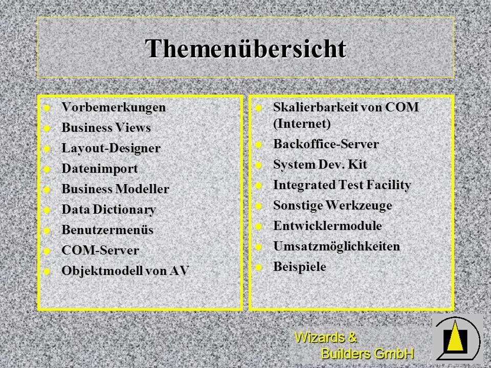 Themenübersicht Vorbemerkungen Business Views Layout-Designer