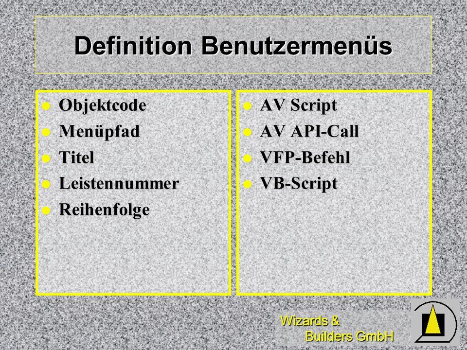 Definition Benutzermenüs